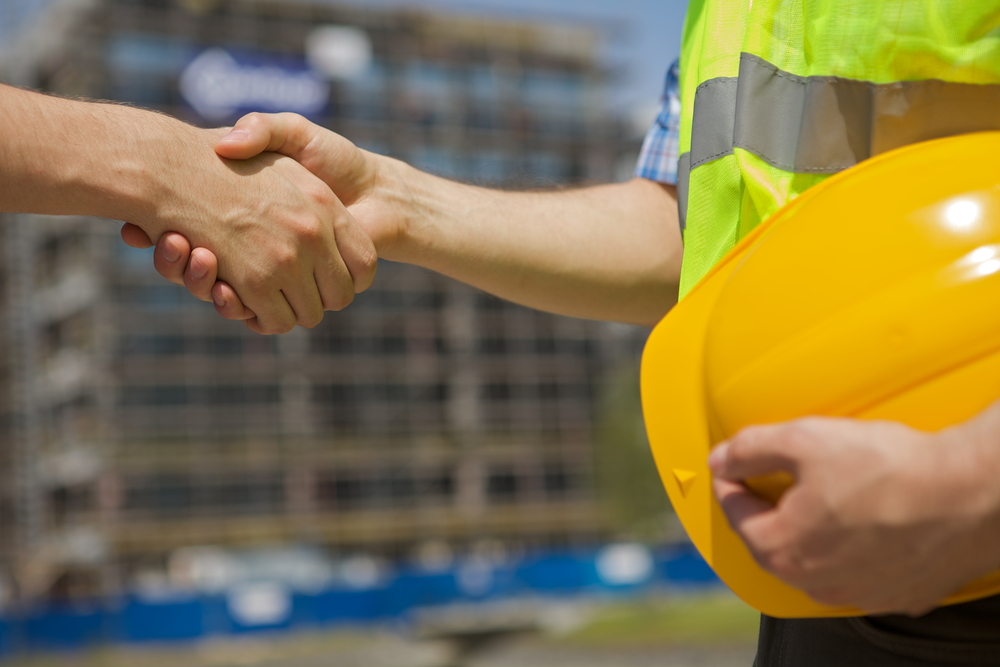 construction handshake